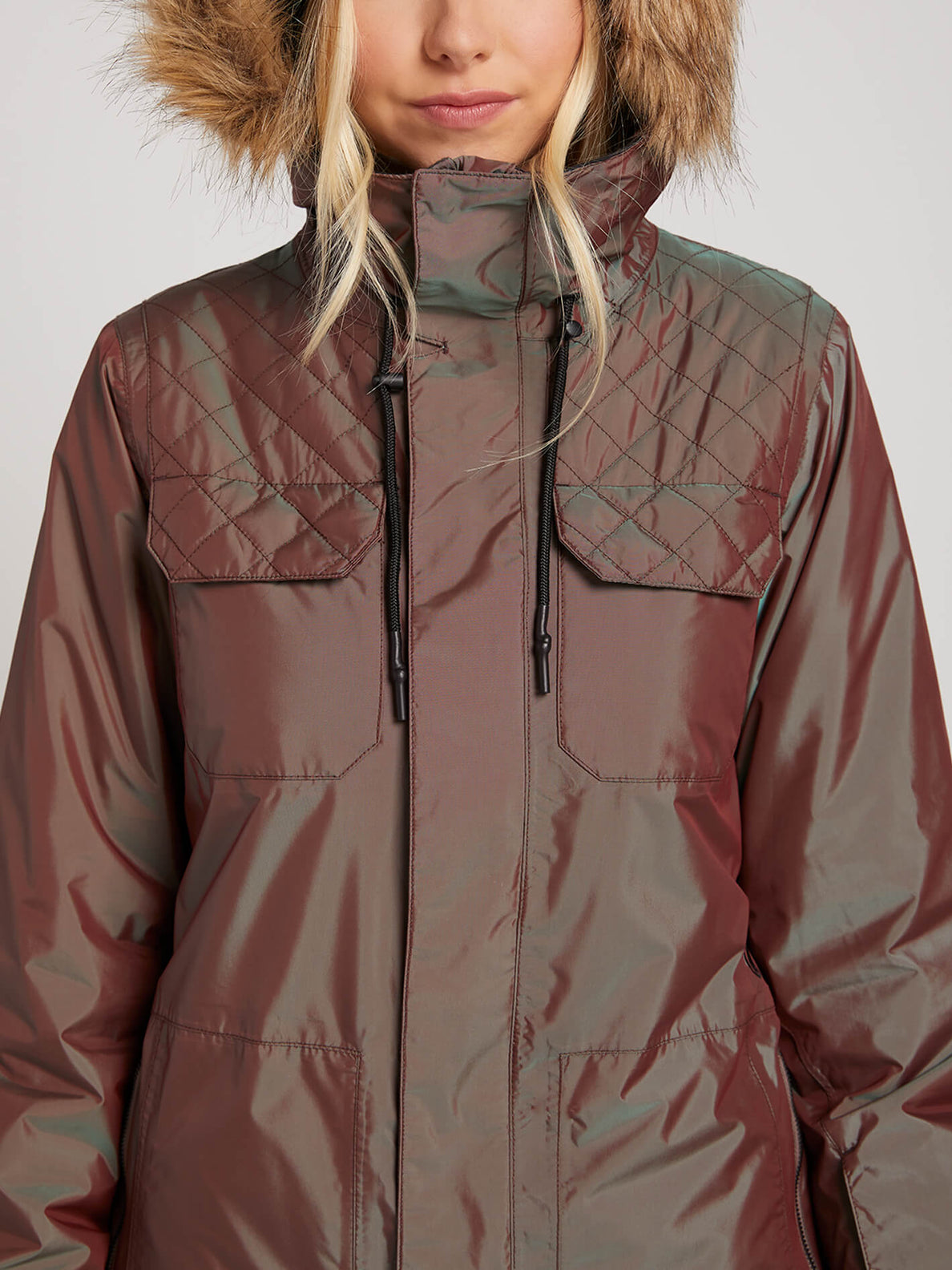 Shadow Insulated Jacket In Iridescent Magenta, Alternate View