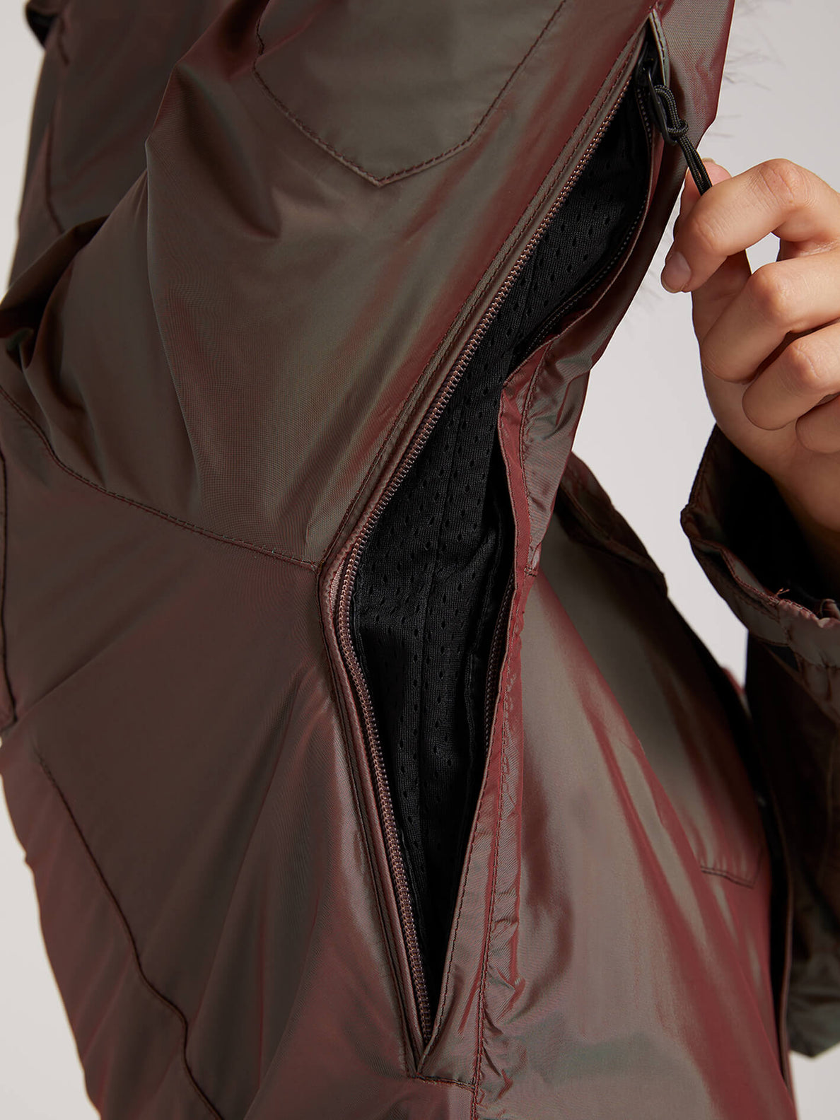 Shadow Insulated Jacket In Iridescent Magenta, Fourth Alternate View
