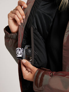Shadow Insulated Jacket In Iridescent Magenta, Fifth Alternate View