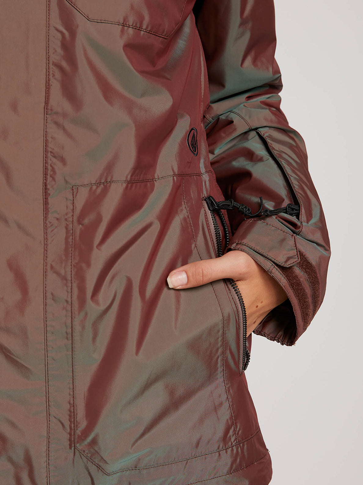 Shadow Insulated Jacket In Iridescent Magenta, Sixth Alternate View