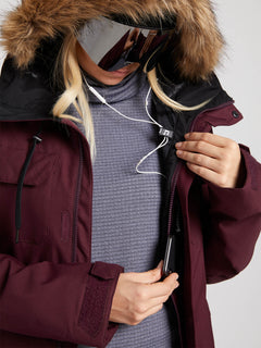 Womens Shadow Insulated Jacket - Merlot