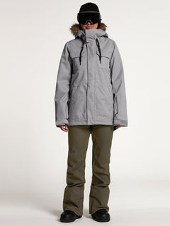 Womens Shadow Insulated Jacket - Military (H0451913_MIL) [20]
