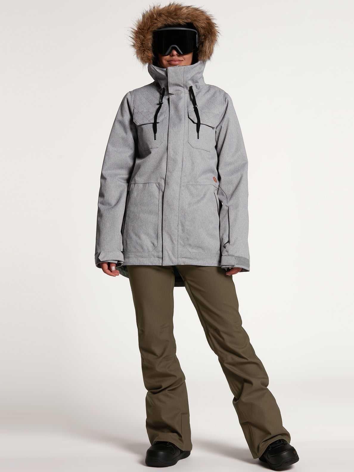 Womens Shadow Insulated Jacket - Military (H0451913_MIL) [21]
