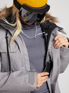 Womens Shadow Insulated Jacket - Military (H0451913_MIL) [2]
