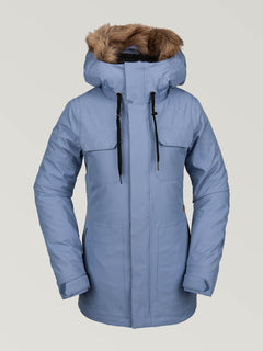 Womens Shadow Insulated Jacket - Washed Blue