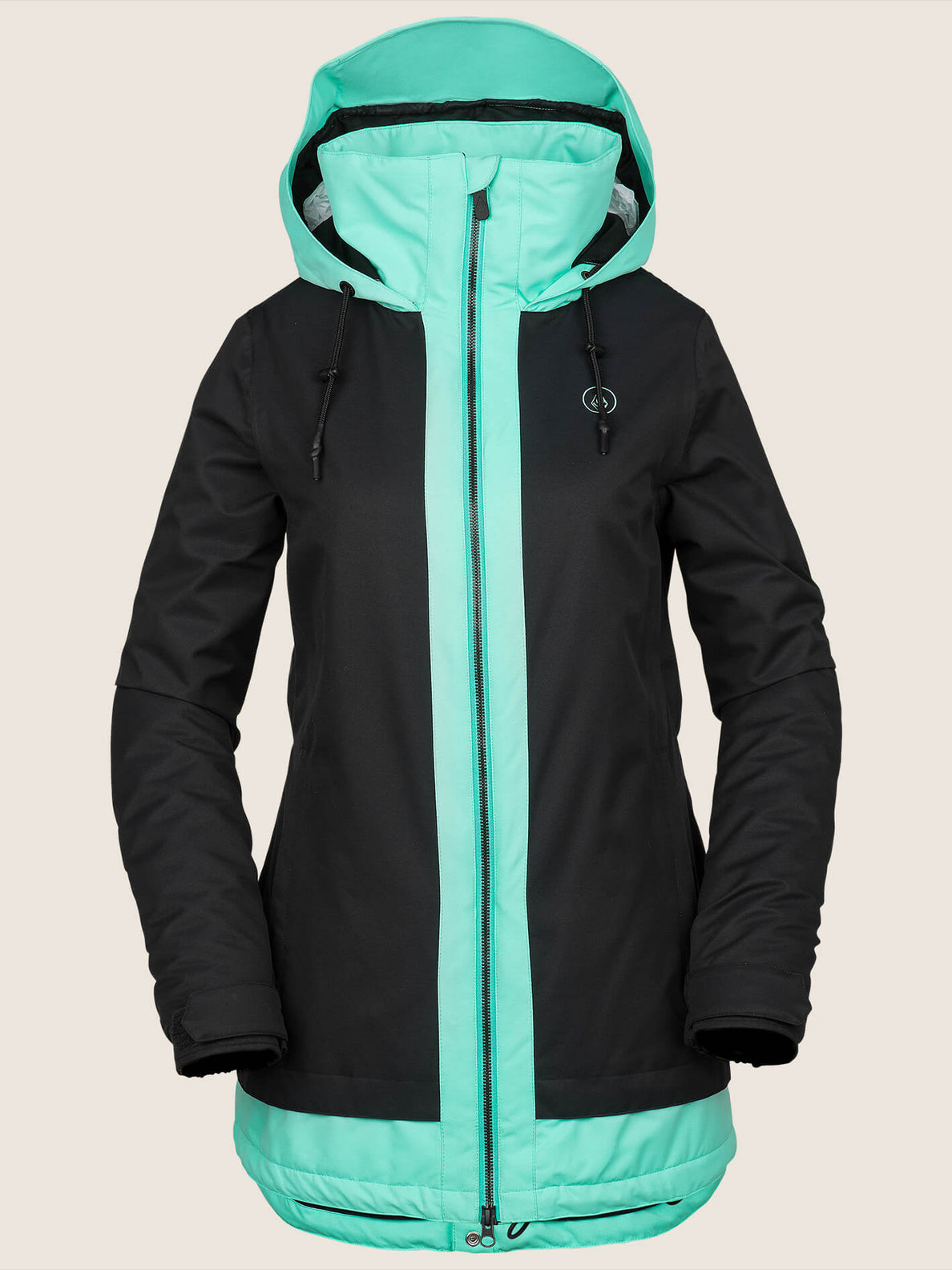Westland Insulated Jacket In Black, Front View