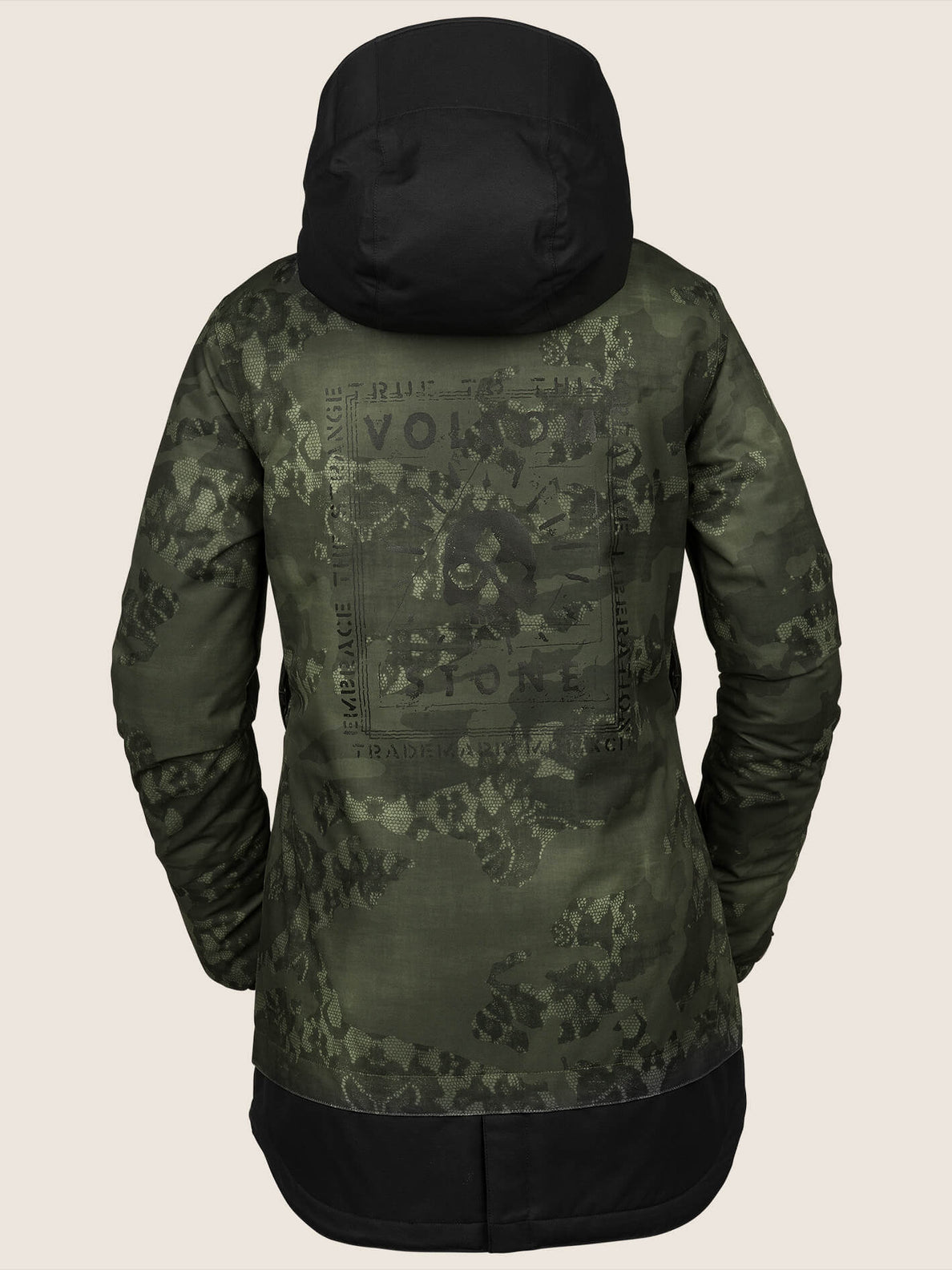 Westland Insulated Jacket In Camouflage, Back View