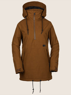Fern Insulated Gore-tex Pullover Jacket In Copper, Front View