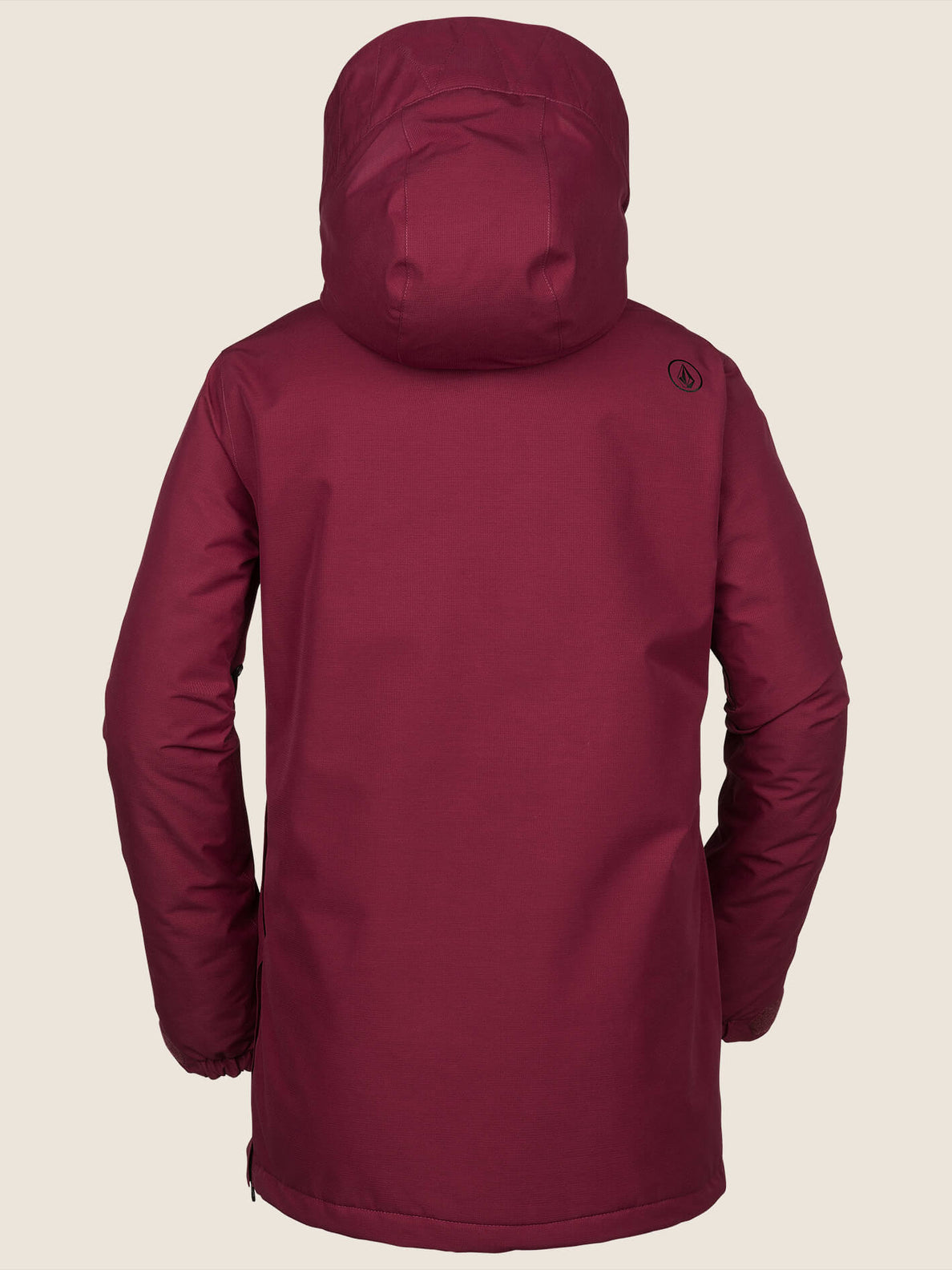 Fern Insulated Gore-tex Pullover Jacket In Magenta, Back View