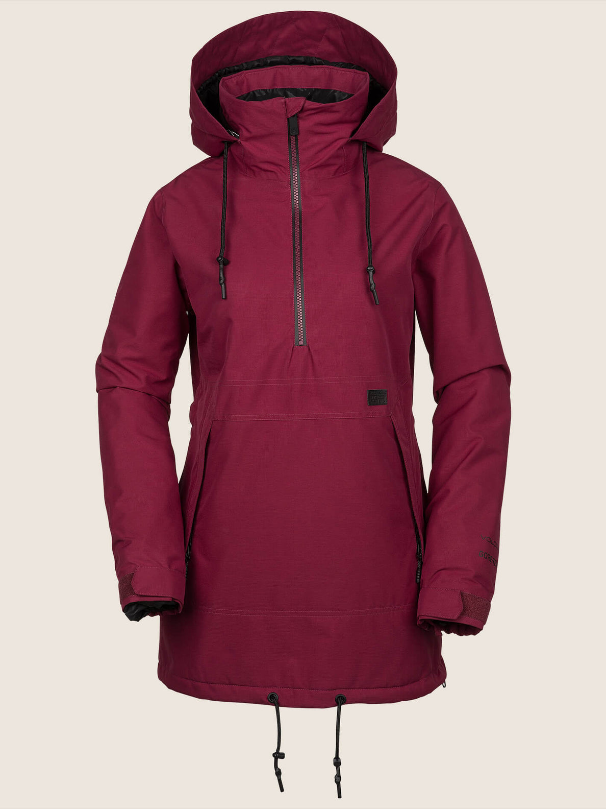 Fern Insulated Gore-tex Pullover Jacket In Magenta, Front View