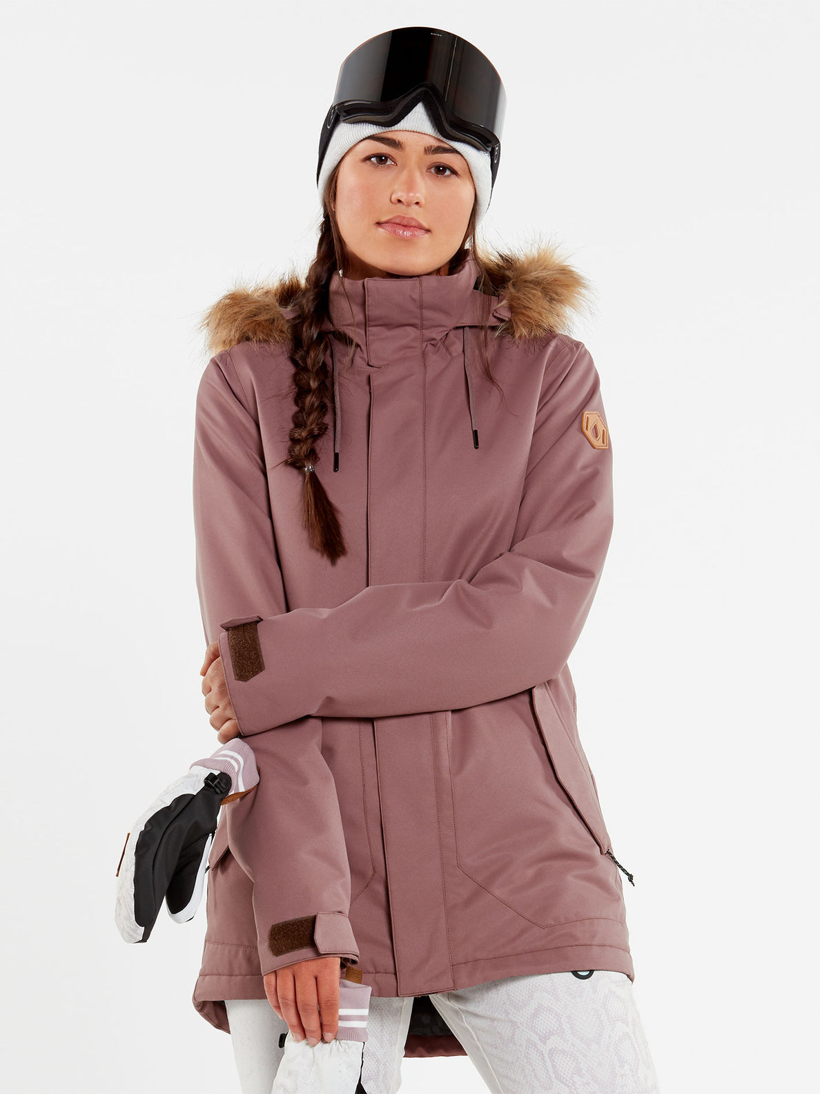 Womens Fawn Insulated Jacket - Bone (H0452011_BNE) [2]