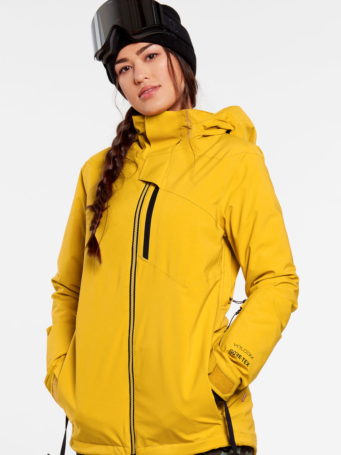Womens 3D Stretch GORE-TEX Jacket - Resin Gold (H0452102_RSG) [1]