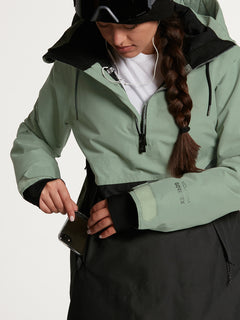 Womens Fern Insulated GORE-TEX Pullover - Bone Snake (H0452104_BNS) [33]