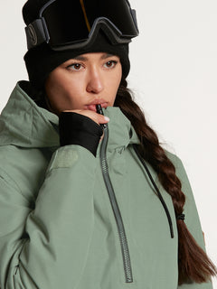 Womens Fern Insulated GORE-TEX Pullover - Bone Snake (H0452104_BNS) [34]