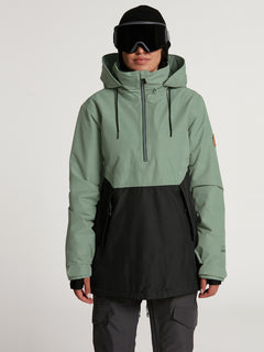 Womens Fern Insulated GORE-TEX Pullover - Dusty Green (H0452104_DGN) [24]