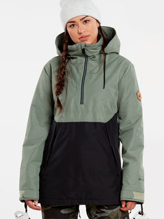 Womens Fern Insulated GORE-TEX Pullover - Dusty Green (H0452104_DGN) [F]
