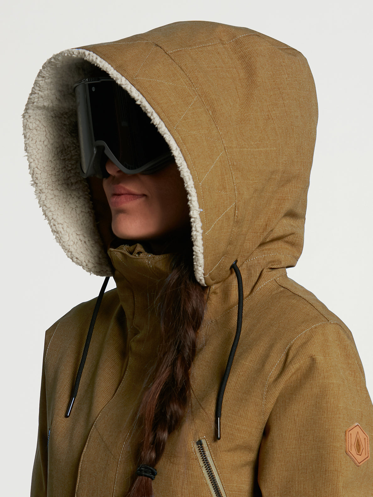 Womens Shrine Insulated Jacket - Burnt Khaki (H0452108_BUK) [11]