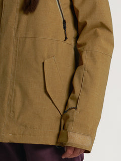 Womens Shrine Insulated Jacket - Burnt Khaki (H0452108_BUK) [1]