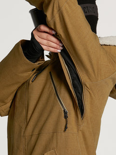 Womens Shrine Insulated Jacket - Burnt Khaki (H0452108_BUK) [3]