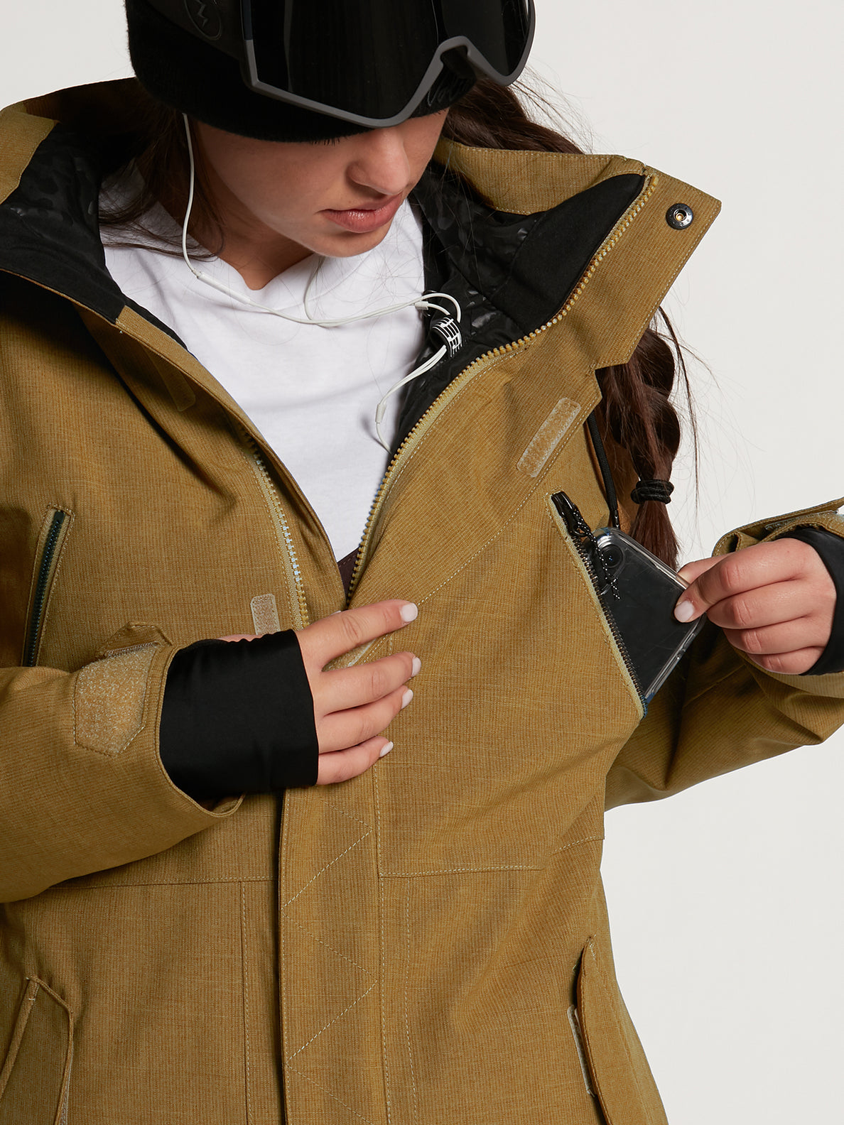 Womens Shrine Insulated Jacket - Burnt Khaki (H0452108_BUK) [5]