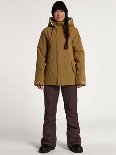 Womens Shrine Insulated Jacket - Burnt Khaki (H0452108_BUK) [F]