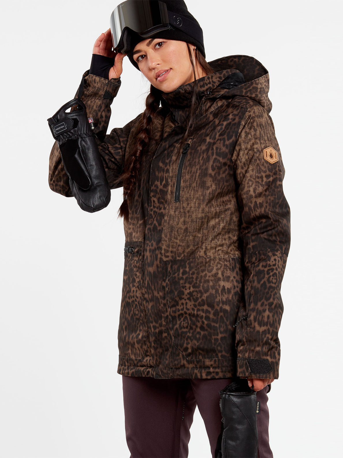 Womens Shelter 3D Stretch Jacket - Leopard (H0452109_LEO) [F]