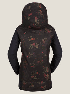 Stave Jacket In Black Floral Print, Back View