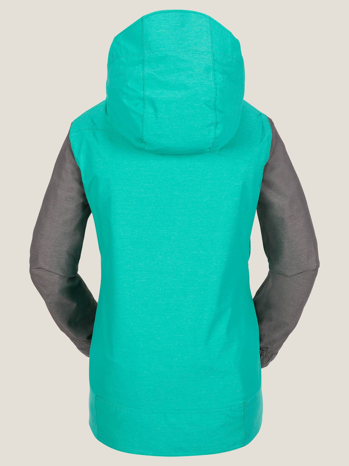 Stave Jacket In Teal Green, Back View