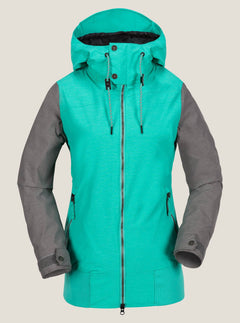Stave Jacket In Teal Green, Front View