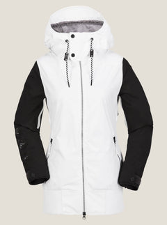 Stave Jacket In White, Front View