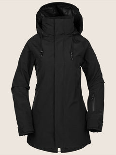 Leda Gore-tex Jacket In Black, Front View
