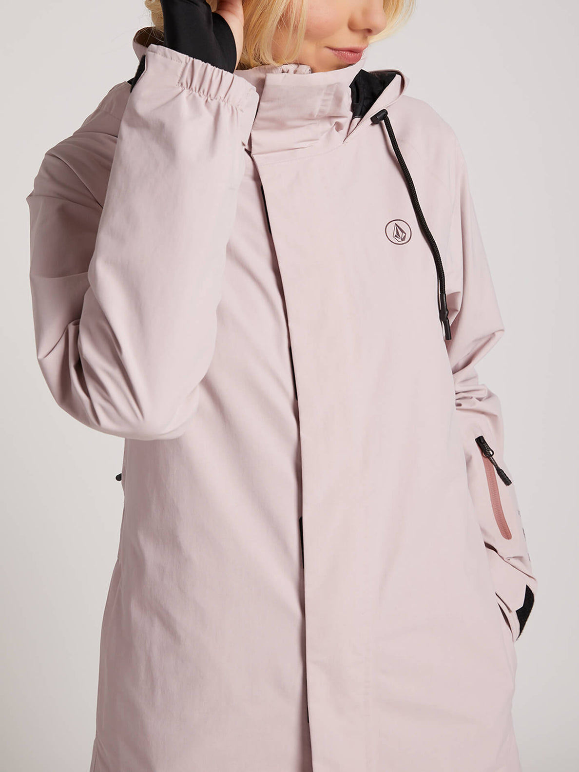 Leda Gore-tex Jacket In Rose Wood, Alternate View
