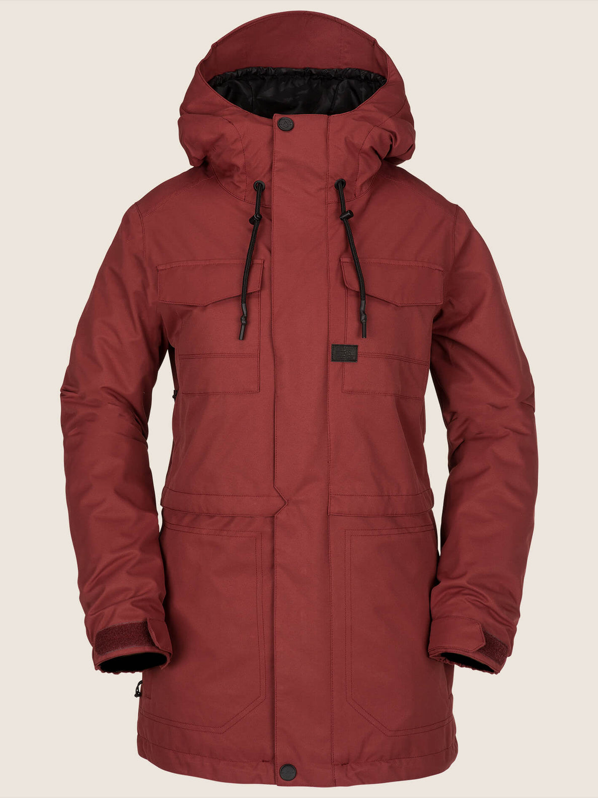 Leeland Jacket In Burnt Red, Front View