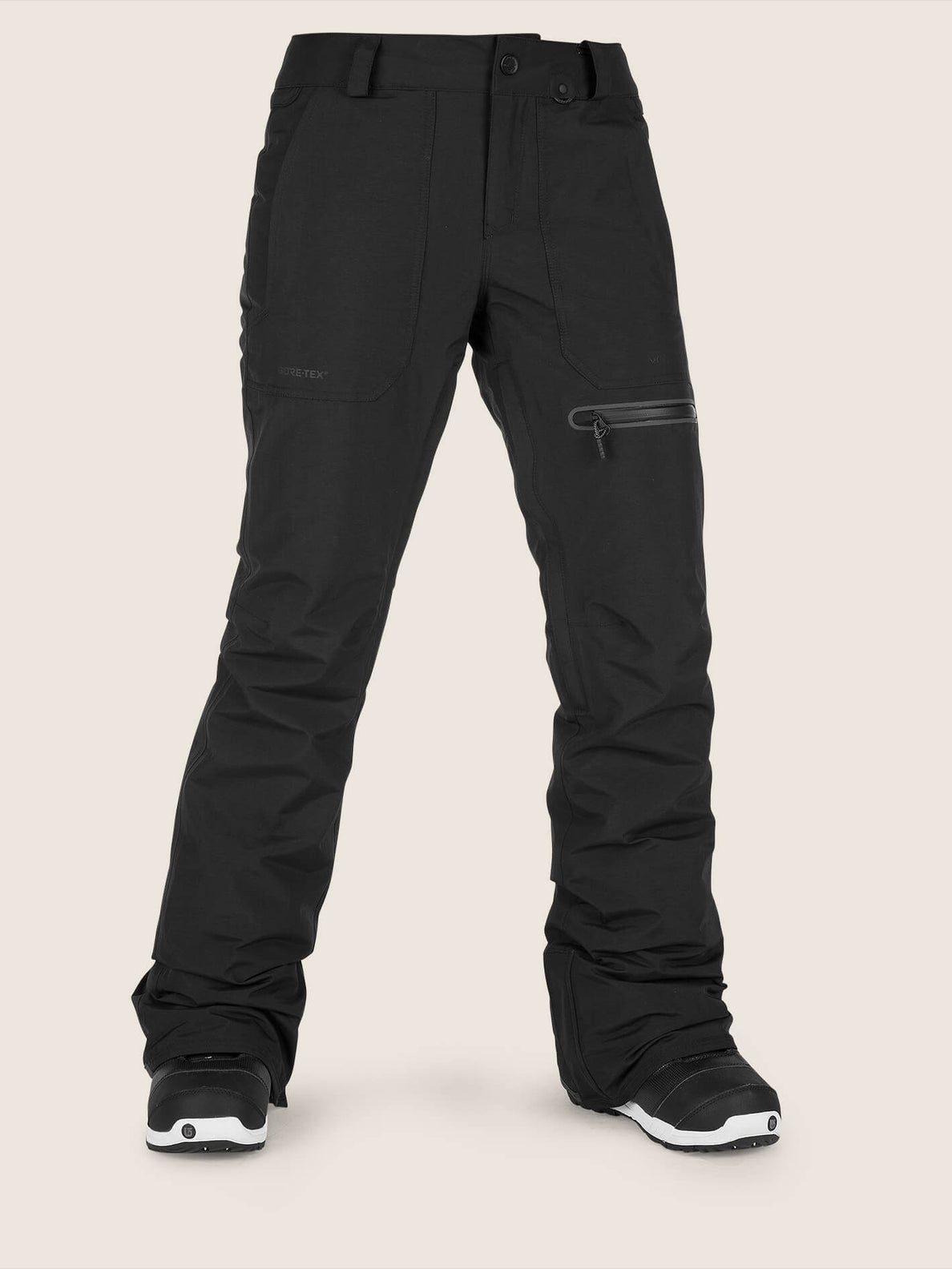 Knox Insulated Gore-tex Pant In Black, Front View