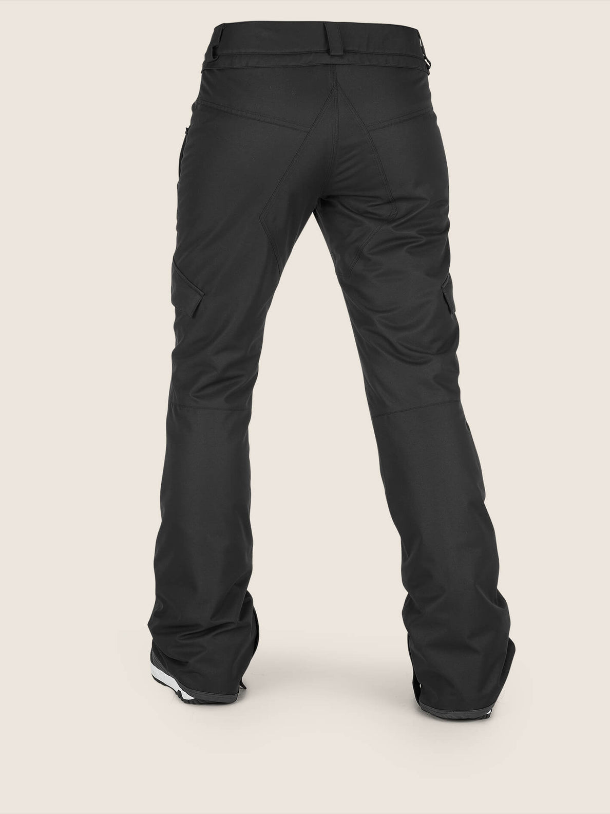 Bridger Insulated Pant In Black, Back View