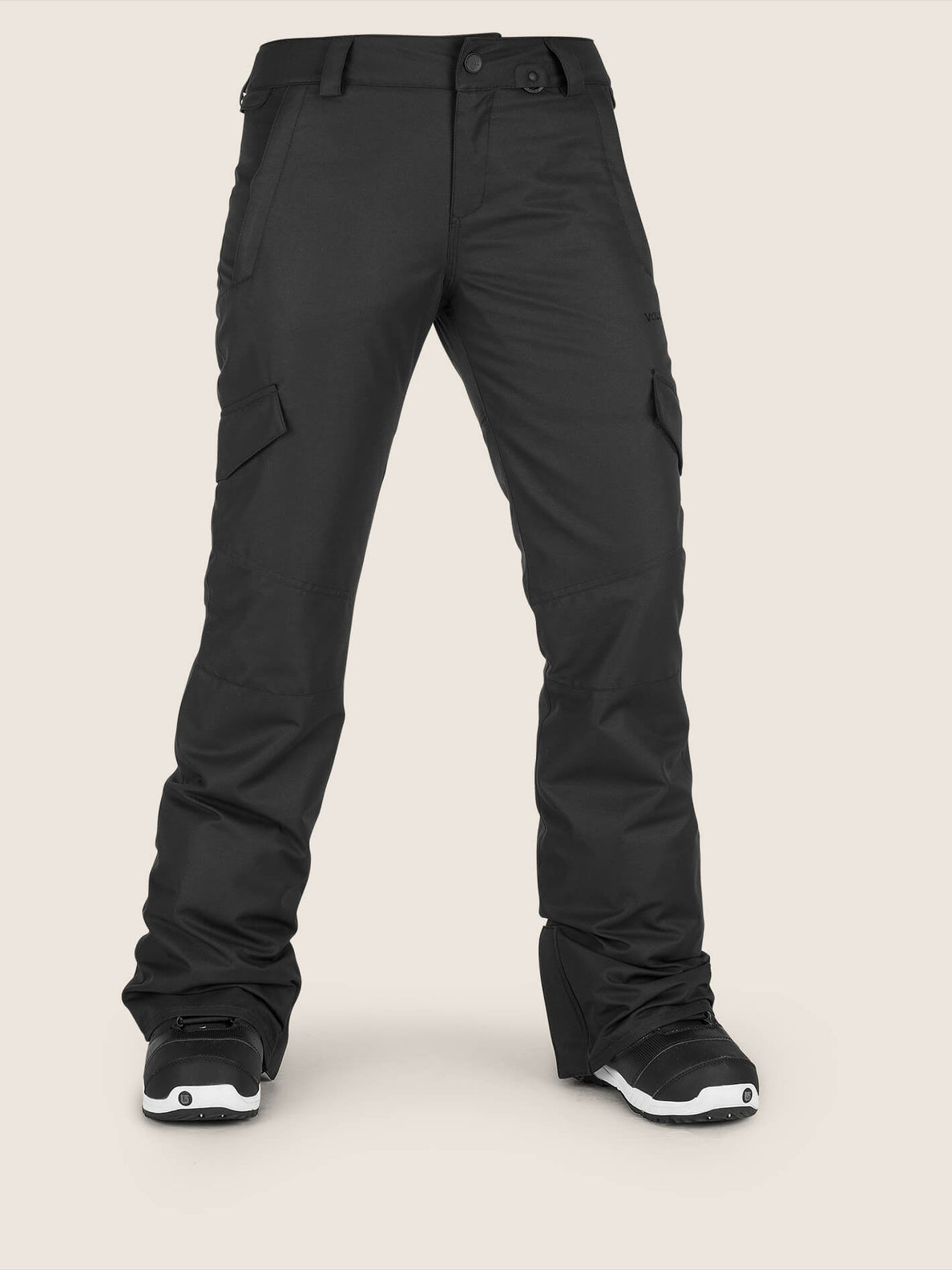 Bridger Insulated Pant In Black, Front View
