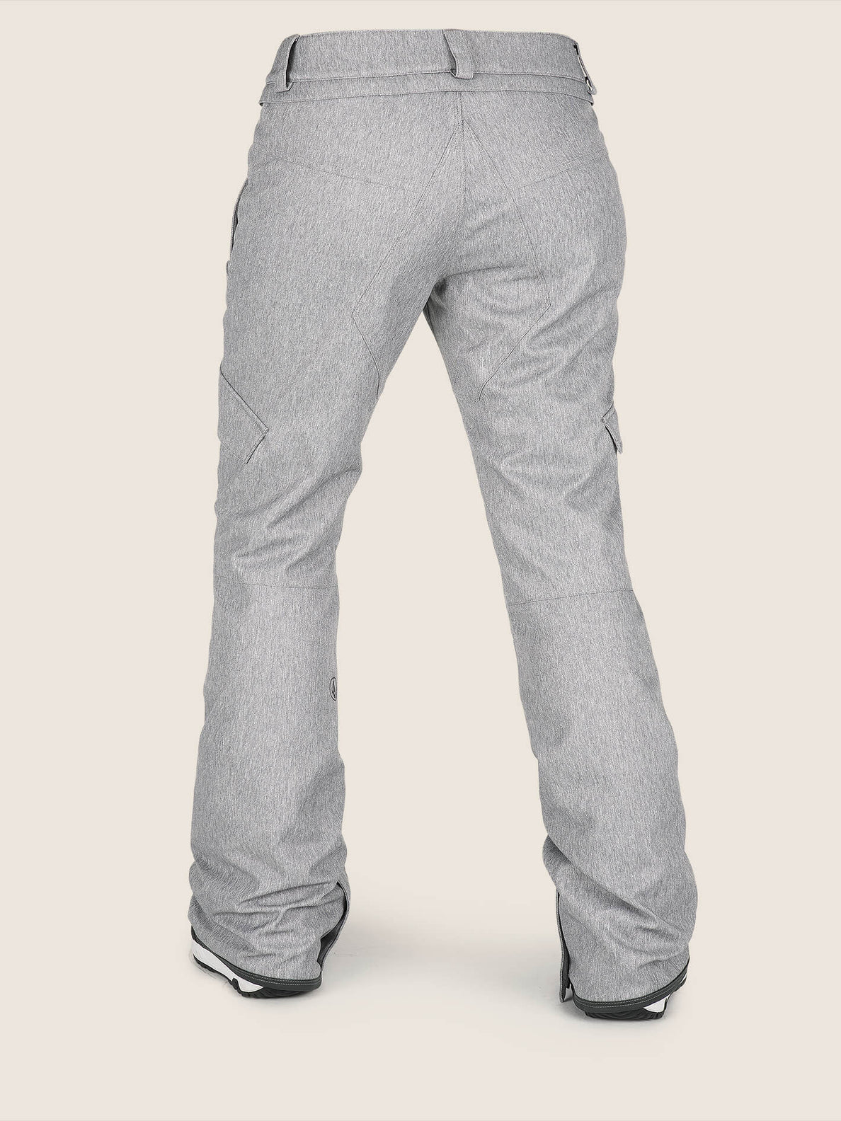 Bridger Insulated Pant In Heather Grey, Back View
