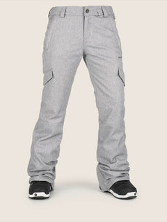 Bridger Insulated Pant In Heather Grey, Front View