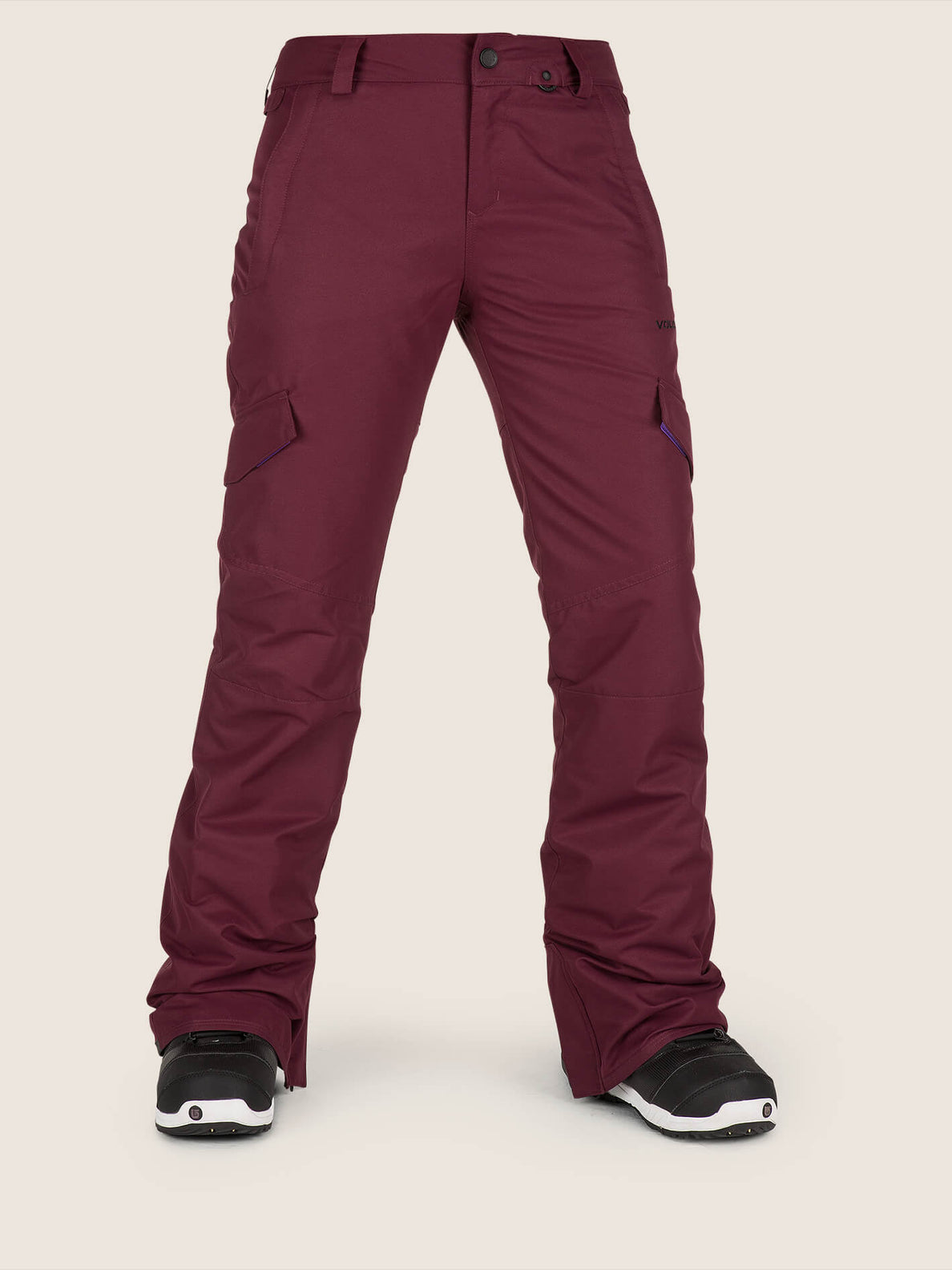 Bridger Insulated Pant In Merlot, Front View