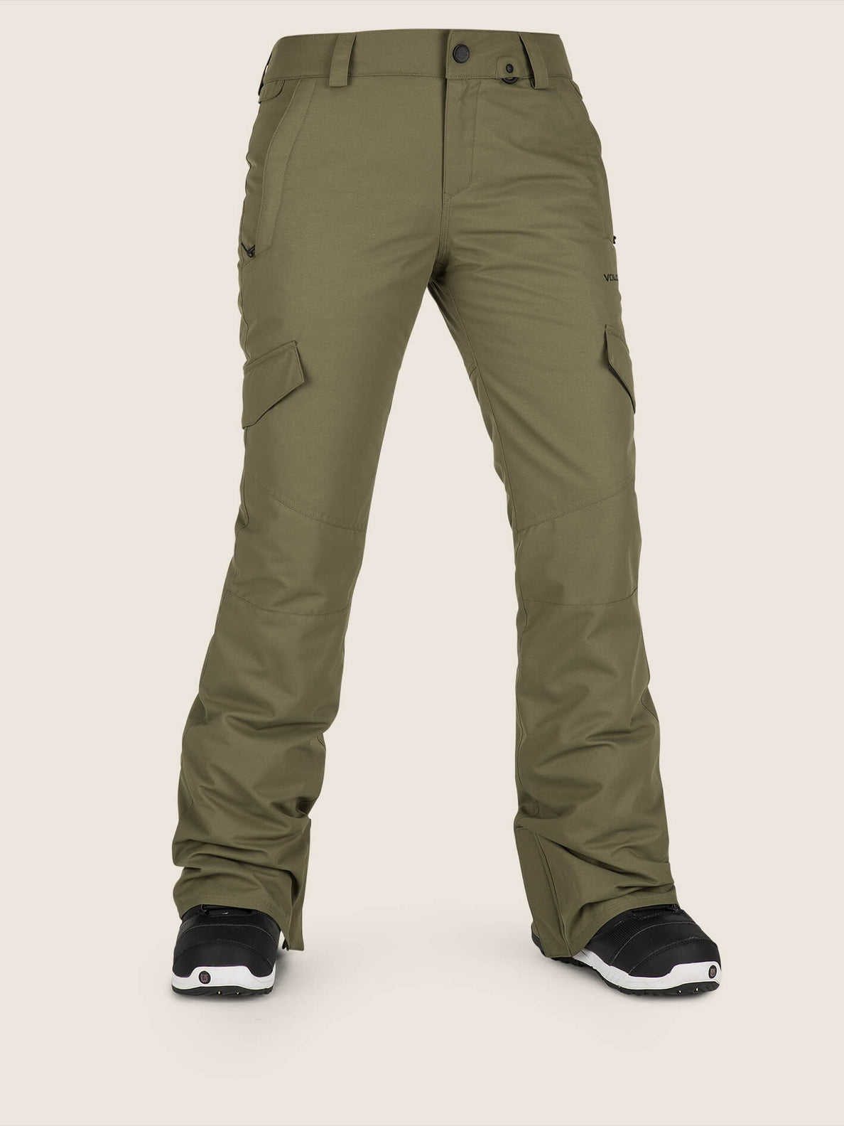 Bridger Insulated Pant In Snow Military, Front View
