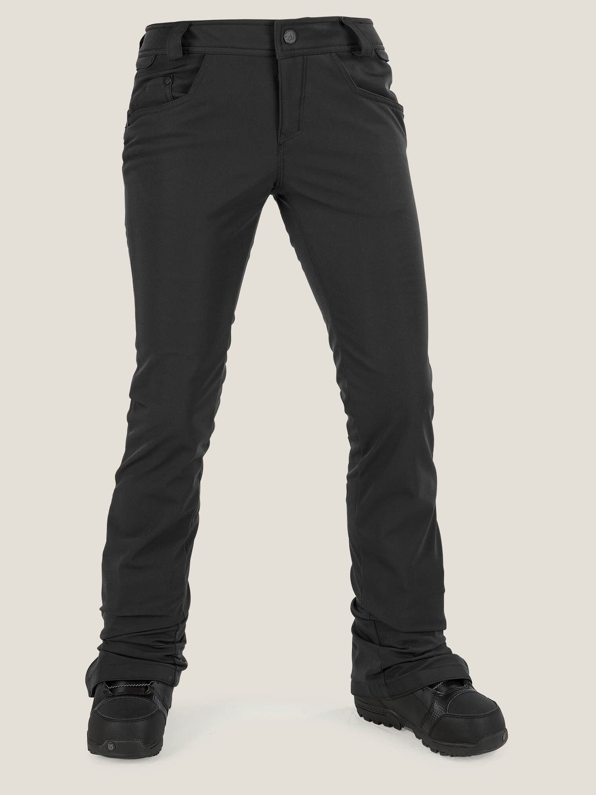 Battle Stretch Pant In Black, Front View