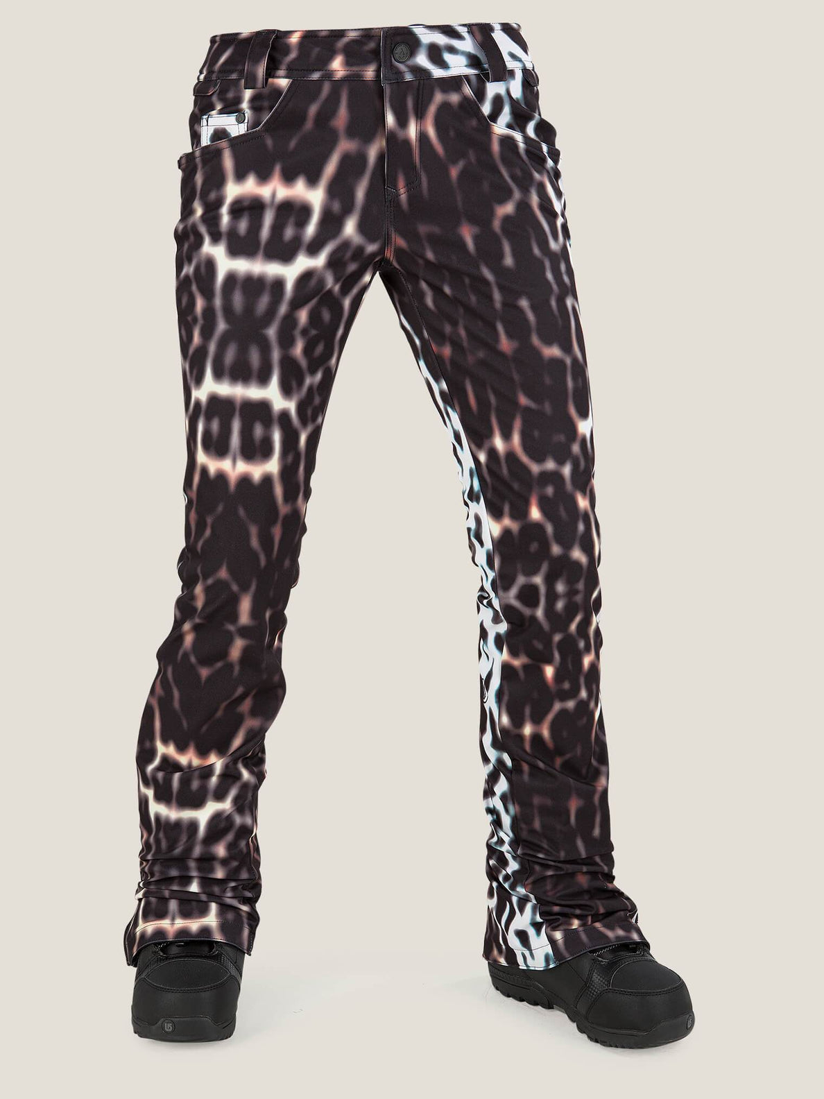 Battle Stretch Pant In Cheetah, Front View