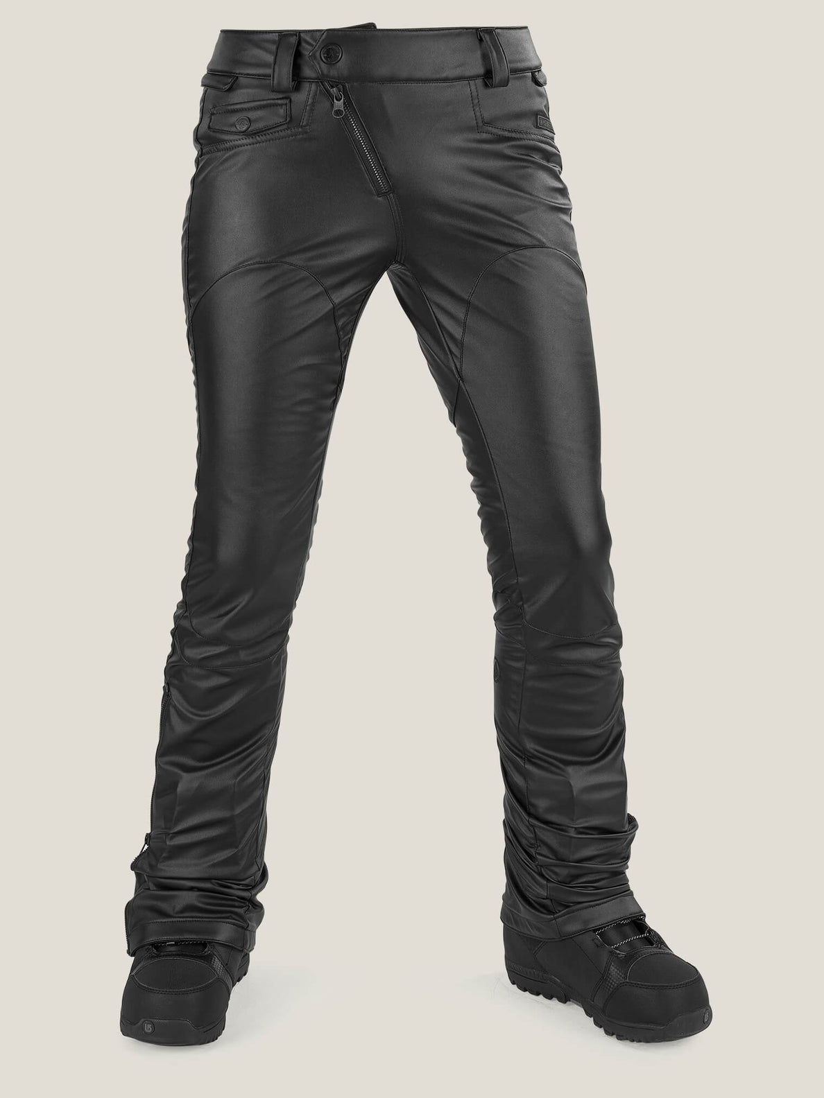 Battle F. Leather Pant In Black, Front View