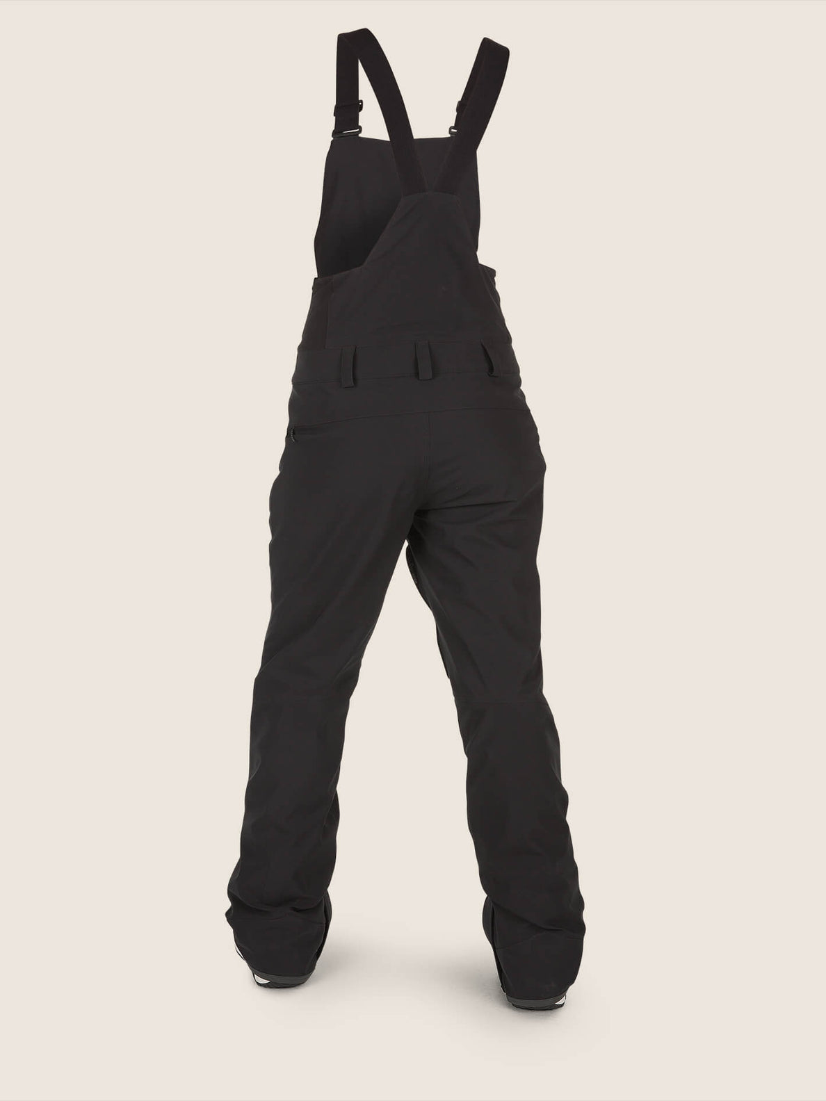 Elm Gore-tex Bib Overall In Black, Back View