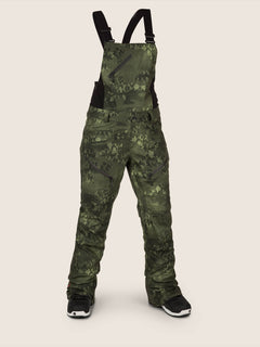 Elm Gore-tex Bib Overall In Camouflage, Front View
