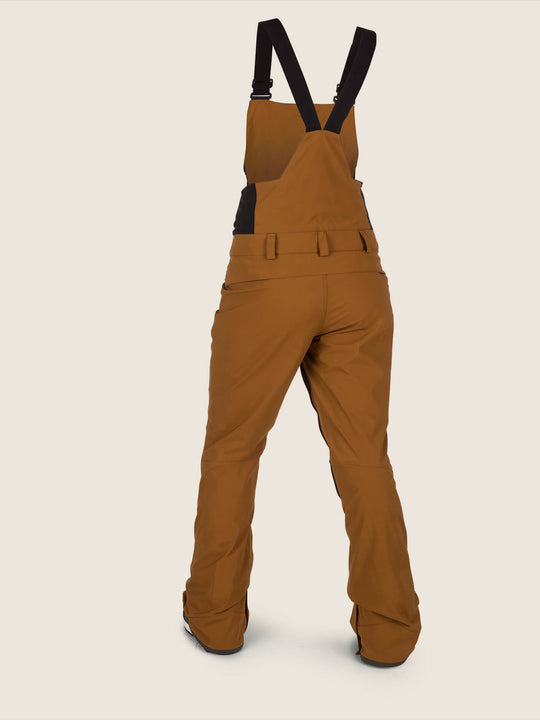 Elm Gore-tex Bib Overall In Copper, Back View