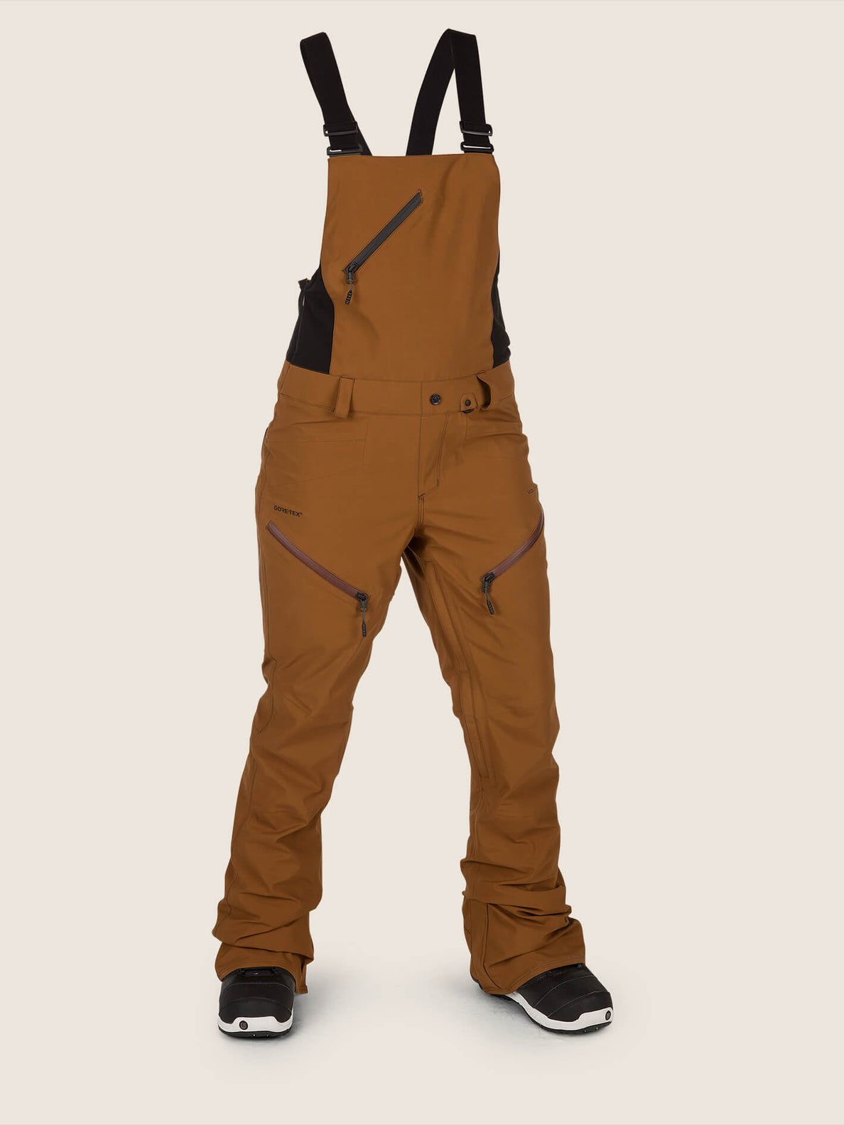 Elm Gore-tex Bib Overall In Copper, Front View