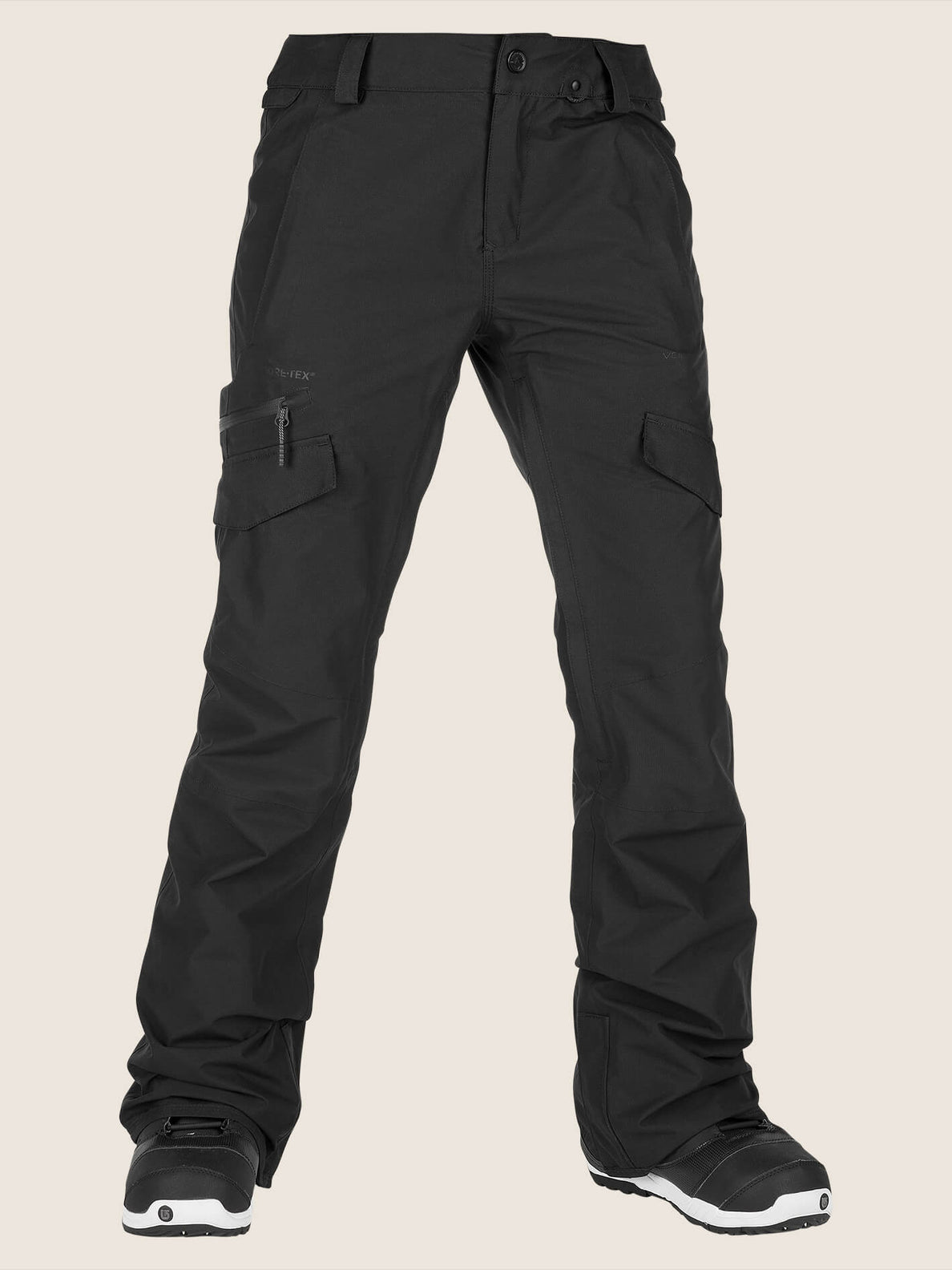 Aston Gore-tex Pant In Black, Front View
