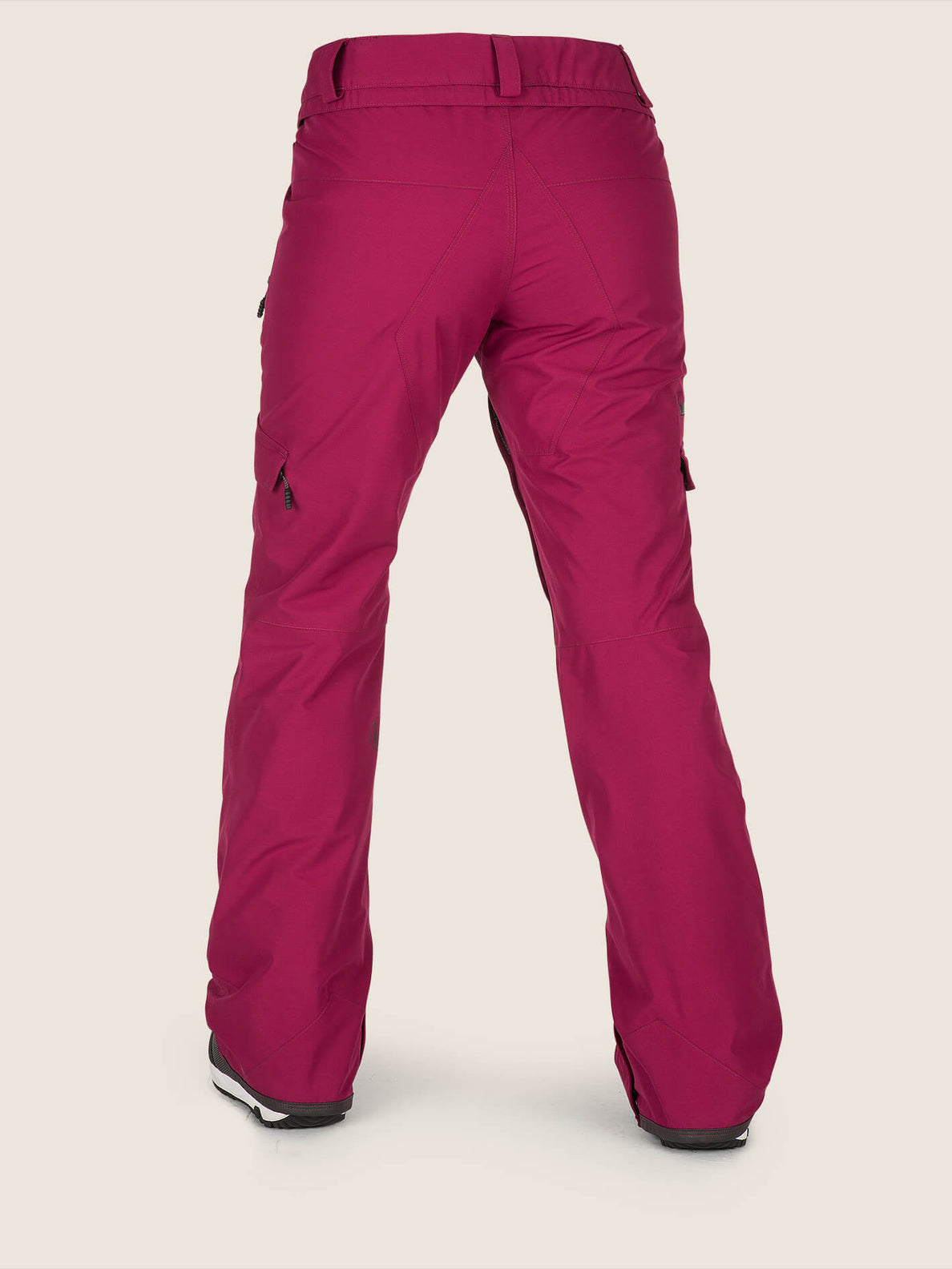 Aston Gore-tex Pant In Magenta, Back View