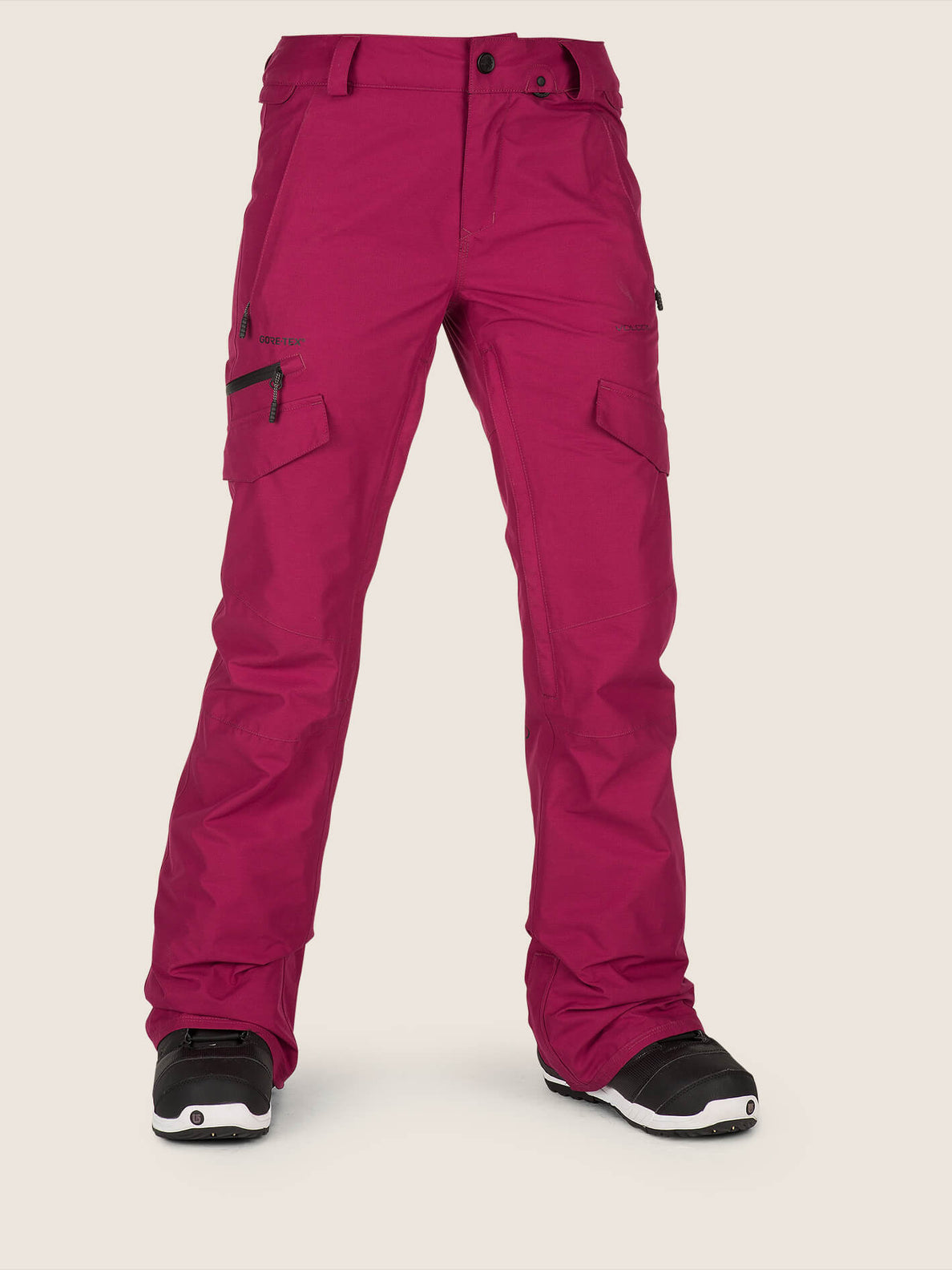 Aston Gore-tex Pant In Magenta, Front View
